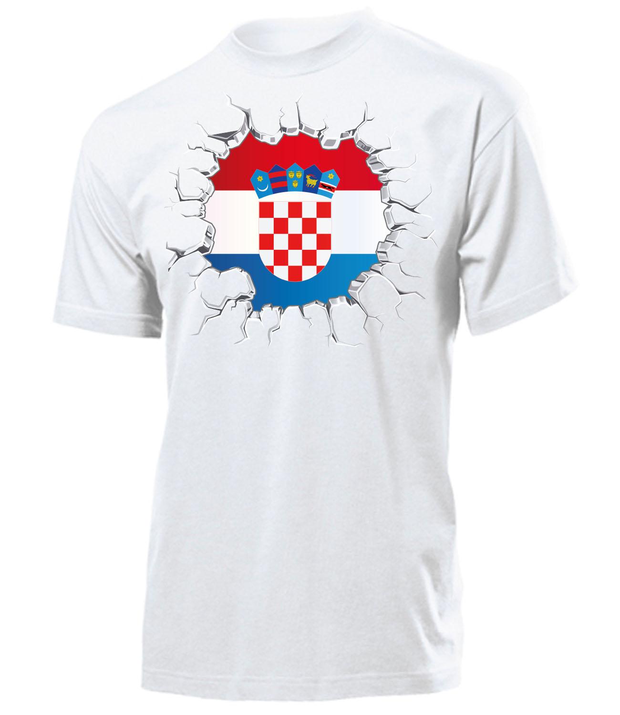 fussball fanartikel kroatien herren t shirt gr s bis. Black Bedroom Furniture Sets. Home Design Ideas