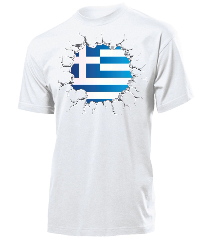 FUSSBALL - FANARTIKEL - Griechenland Herren T-Shirt Gr.S bis XXL ... 51a18c5da6